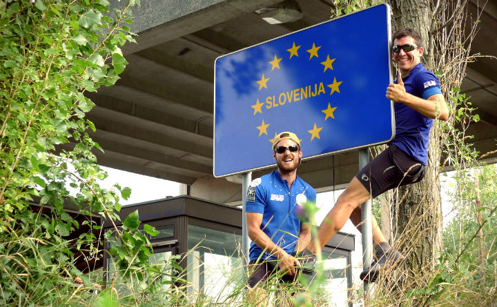 On the road in Europe - Cycle for Water - October 2015