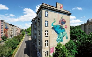 Mural in Lodz by ETAM CREW