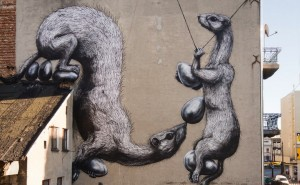 mural in Lodz by ROA