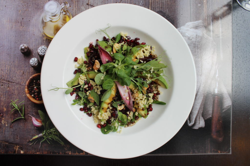 Salad with roasted beets and millet groats, angelo by Vienna House Katowice